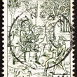 Stock Photo: Postage stamp Belgium 1977 Conversion of St. Hubertus