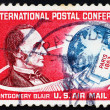 Stock Photo: Postage stamp US1963 Montgomery Blair, US Postmaster General