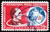 Postage stamp USA 1963 Montgomery Blair, US Postmaster General — Stock Photo