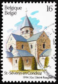 Postage stamp Belgium 1994 Church of Church of Sts. Peter and Pa — Stock Photo