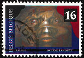 Postage stamp Belgium 1994 The Malleable Darkness, Painting by O — Stock Photo