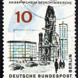 Postage stamp Germany 1965 Kaiser Wilhelm Memorial Church, Berli - Foto de Stock