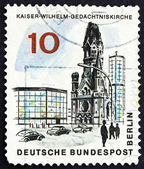 Postage stamp Germany 1965 Kaiser Wilhelm Memorial Church, Berli — Stock Photo