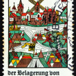 Stock Photo: Postage stamp Germany 1975 View of Neuss, Woodcut