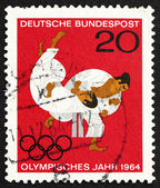 Postage stamp Germany 1964 Judo, Olympic Sport — Stock Photo