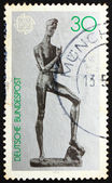 Postage stamp Germany 1974 Young Man, Sculpture by Lehmbruck — Stock Photo