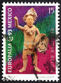 Postage stamp Belgium 1993 Mayan Statuette, Europalia 93 — Stock Photo