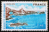 Postage stamp France 1976 Biarritz, Bay of Biscay, France — Stock Photo