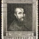 Постер, плакат: Postage stamp Vatican 1964 Michelangelo Buonarroti