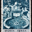 Royalty-Free Stock Photo: Postage stamp Vatican 1967 Aerial View of St. Peter's Square
