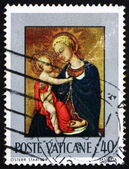 Postage stamp Vatican 1971 Madonna and Child, by Sassetta — Stock Photo