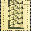 Постер, плакат: Postage stamp Vatican 1972 Design for Spiral Staircase by Brama