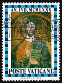 Postage stamp Vatican 1974 Christ, St. Peter's Basilica — Stock Photo
