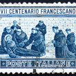 Postage stamp Italy 1926 St. Francis' Death — Stock Photo