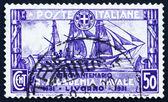 Postage stamp Italy 1931 Training Ship Amerigo Vespucci — Stock Photo