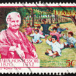 Postage stamp Italy 1970 Dr. MariMontessori and Children — Stock Photo #9995138