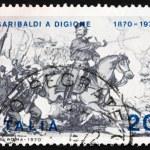 Постер, плакат: Postage stamp Italy 1970 Giuseppe Garibaldi at Battle of Dijon