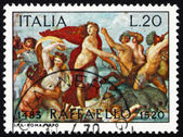 Postage stamp Italy 1970 The Triumph of Galatea, Fresco by Rapha — Stock Photo