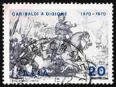 Postage stamp Italy 1970 Giuseppe Garibaldi at Battle of Dijon — Stock Photo