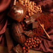 Stock Photo: Chocolate and nuts
