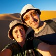 Hike in desert — Stock Photo