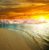 Puesta de sol del mar — Foto de Stock