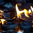 Fire in temple — Stockfoto