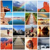 Caminata collage — Foto de Stock