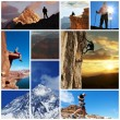 Hike collage - Foto Stock