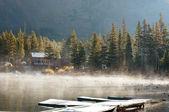Fog on lake — Stock Photo