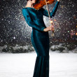 Girl with violin — Stock Photo #9631298
