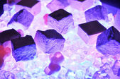 Glowing purple crystals — Stock Photo