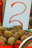Durians for sale — Stockfoto