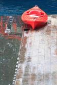 Kayak rosso — Foto Stock