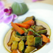Wok steamed vegetables — Foto Stock