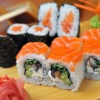 California rolls , maki sushi , japanese food — Stock Photo