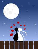 Cats in love — Stock Vector