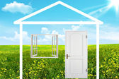 The house on a meadow — Stock Photo