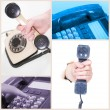 Collage. Telephone — Stock Photo
