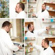 Collage. Pharmacist at pharmacy — Stock Photo #10657047