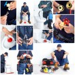 Royalty-Free Stock Photo: Plumber. Collage