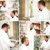 Apotheker in apotheke — Stockfoto