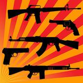 Rayons et armes à feu — Vecteur