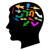 Multicoloured pointers — Stock Vector