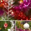Collage. Sparkling tree ornament — Stock Photo