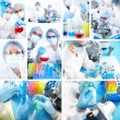 Collage. Science Team — Stock Photo #8847052