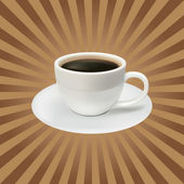 The coffee cup on a brown background — Stock Vector
