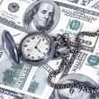 Clock and money — Stock Photo #9522804