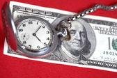 I dollari e l'orologio — Foto Stock