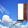 Stock Photo: Open door in heavens